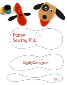 DIY Felt Puppy Sewing Kit