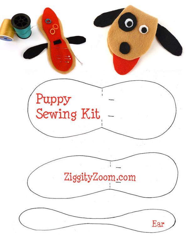 DIY Felt Puppy Sewing Kit