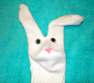 Bunny Sock Puppet Craft