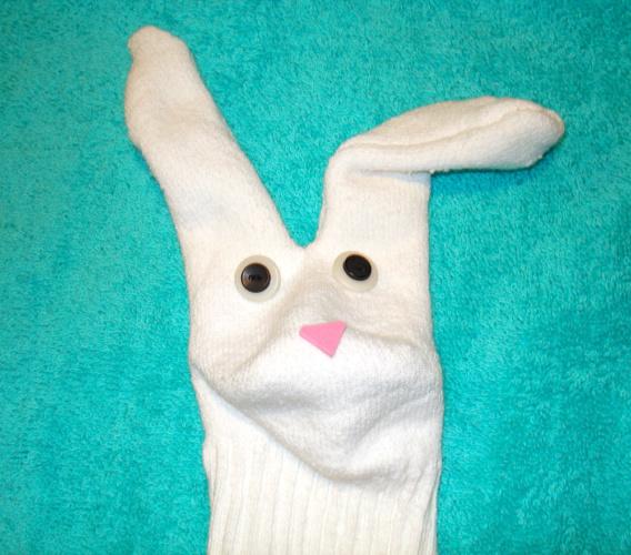 Bunny Sock Pupper Kids Craft