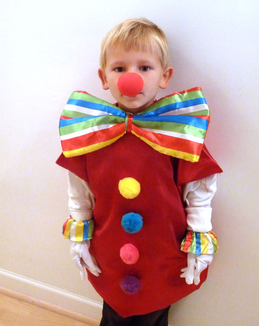 DIY Kids clown costume