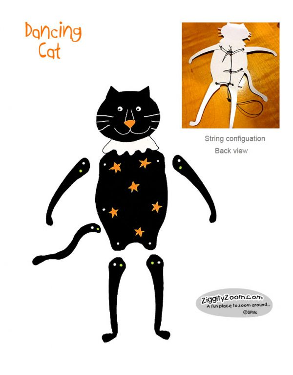 halloween diy cat craft