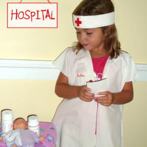 Easy Nurse Pillowcase Costume