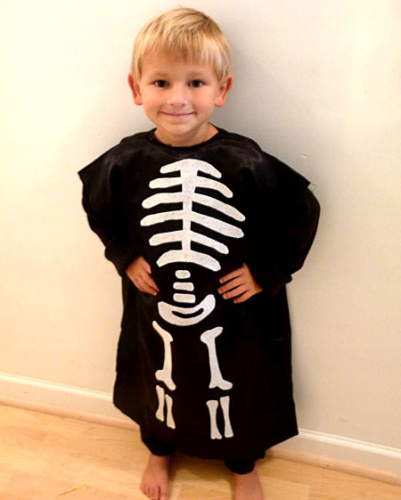 diy kids skeleton costume