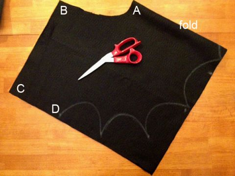 diy easy bat costume halloween