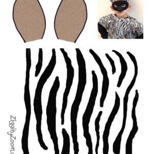 DIY Zebra Pillowcase Costume