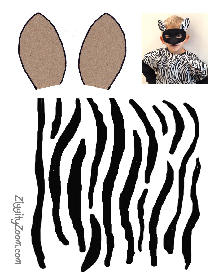 diy zebra pillowcase costume