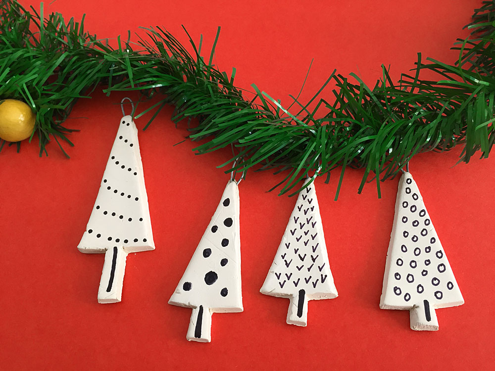DIY Mini Tree Ornaments
