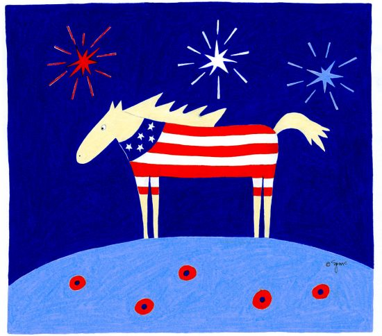 Patriotic Horse art print