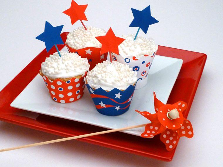 Printable Patriotic cupcake wrappers