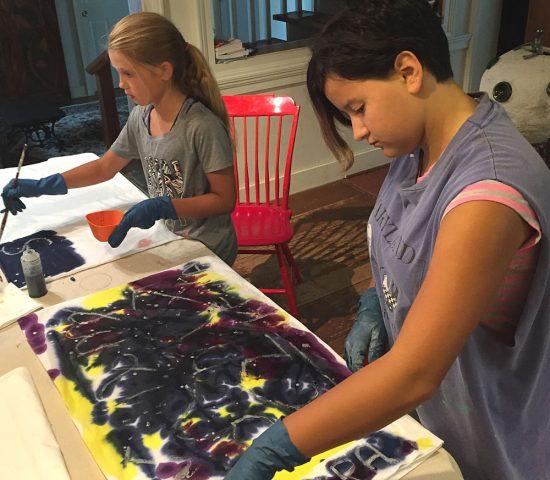 kids batik craft project