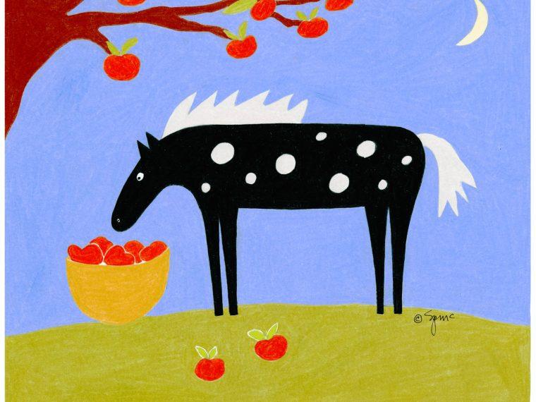 September Horse Print