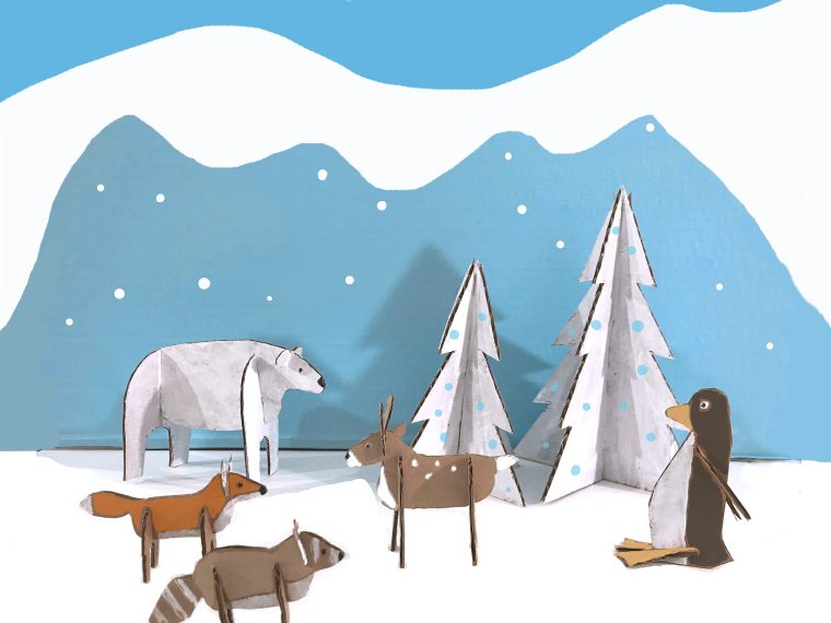 Winter Wonderland Animals PDF Art Patterns